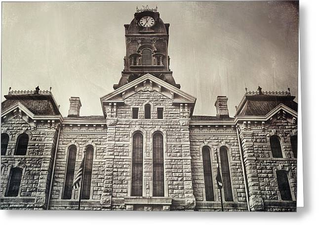 Trial Digital Art Greeting Cards - Granbury Courthouse Greeting Card by Pair of Spades