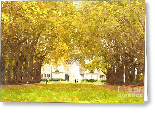Historic Site Greeting Cards - Grand Allee Ceremonial Avenue at Carlton Gardens Greeting Card by Beverly Claire Kaiya