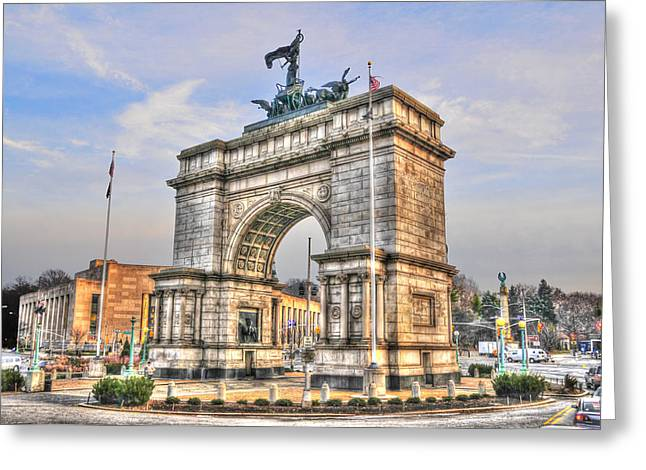 Best Sellers -  - Prospects Greeting Cards - Grand Army Plaza Arch Greeting Card by Randy Aveille