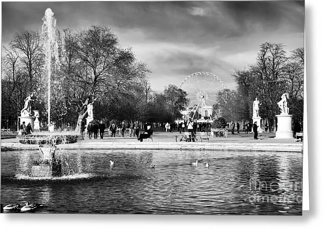 Bassin Greeting Cards - Grand Bassin Rond Greeting Card by John Rizzuto