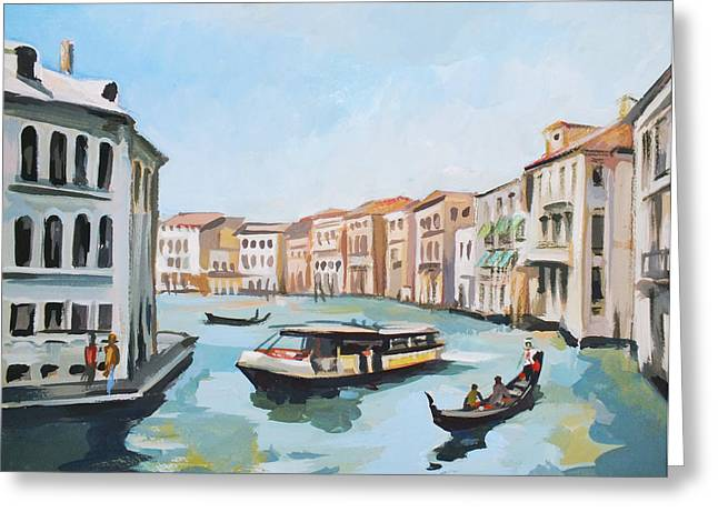 Italian Landscapes Mixed Media Greeting Cards - Grand Canal 2 Greeting Card by Filip Mihail