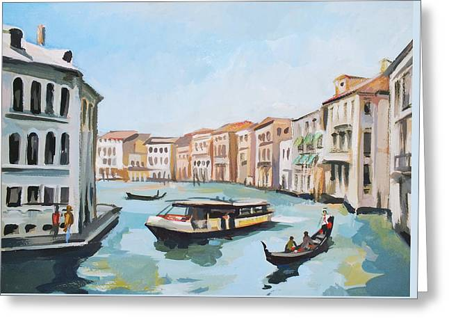 Grand Canal 2 Greeting Card by Filip Mihail