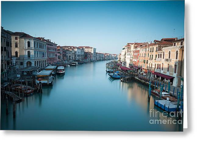 Vaporetto Greeting Cards - Grand canal at sunrise Venice Italy Greeting Card by Matteo Colombo