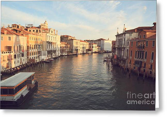 Vaporetto Greeting Cards - Grand canal from Accademia bridge in Venice Greeting Card by Matteo Colombo