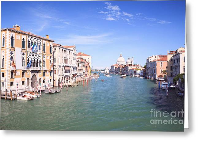 Accademia Greeting Cards - Grand canal from Accademia bridge Greeting Card by Matteo Colombo