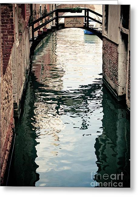 Gondolier Greeting Cards - Grand Canal in Venice Italy Greeting Card by Raimond Klavins