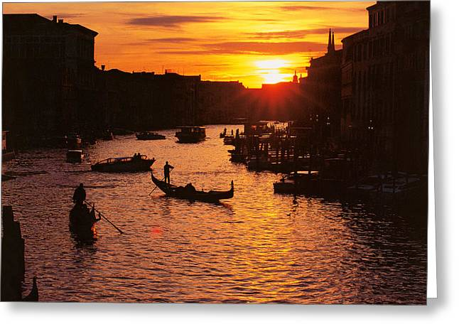 Gran Canal Greeting Cards - Grand Canal in Venice Greeting Card by Yue Wang
