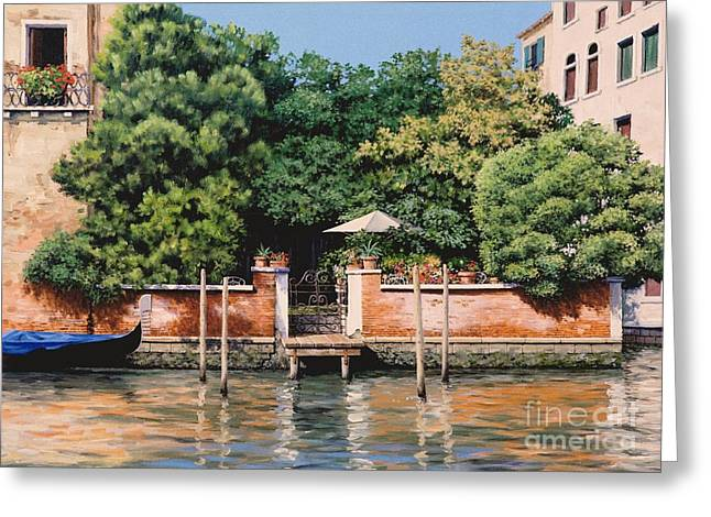 Grand Canal Oasis Greeting Card by Michael Swanson