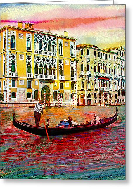 Steven Boone Greeting Cards - Grand Canal Greeting Card by Steven Boone