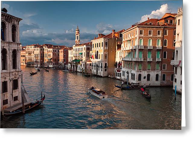 Accademia Greeting Cards - Grand Canal Sunset Greeting Card by Michael Blanchette