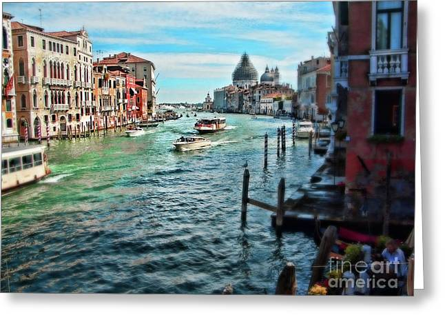 Grande Canal Greeting Cards - Grand Canal Greeting Card by Sylvia Cook