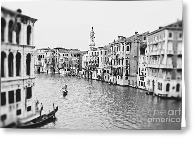 Row Boat Greeting Cards - Grand Canal Venice Italy Greeting Card by Ivy Ho