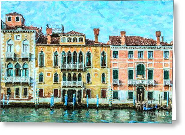 Venezia Greeting Cards - Grand Canal Venice Italy Greeting Card by Liz Leyden