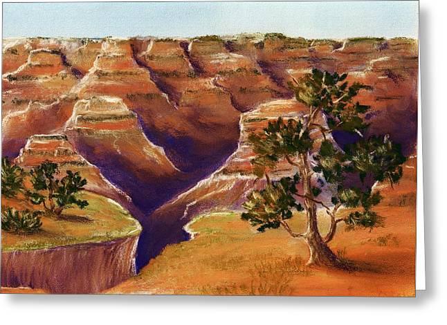 Treasures Pastels Greeting Cards - Grand Canyon Greeting Card by Anastasiya Malakhova