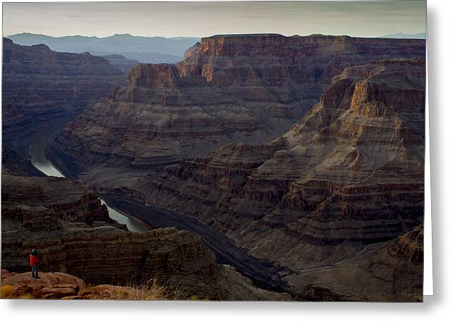 Apacheco Greeting Cards - Grand Canyon and Colorado River Greeting Card by Andrew Pacheco