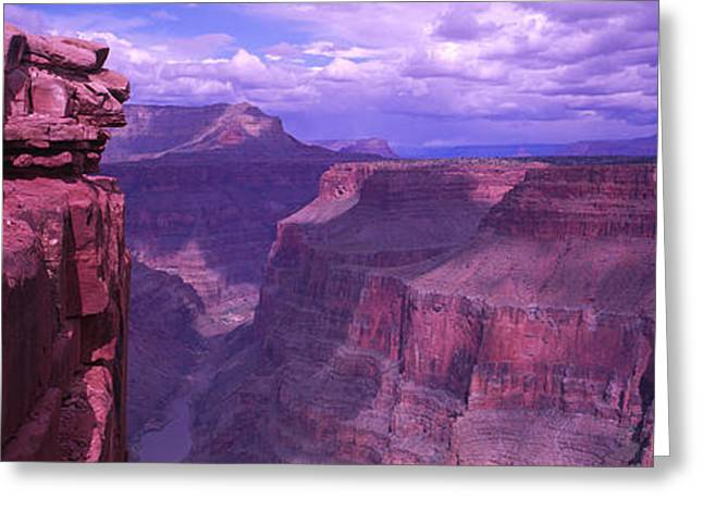 Eroded Greeting Cards - Grand Canyon, Arizona, Usa Greeting Card by Panoramic Images