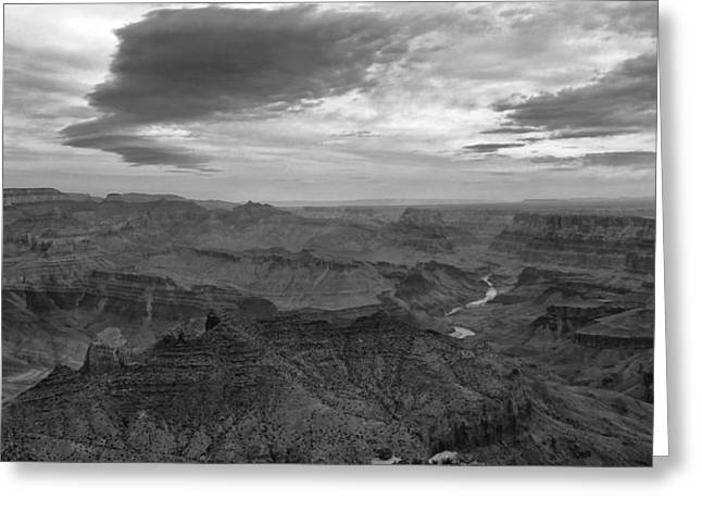 The Grand Canyon Greeting Cards - Grand Canyon Black And White Greeting Card by Dan Sproul