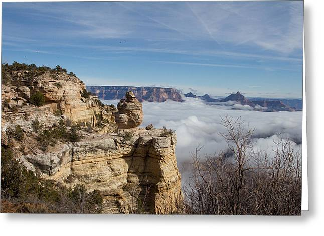 Temperature Inversion Greeting Cards - Grand Canyon  Greeting Card by Chris Wallace