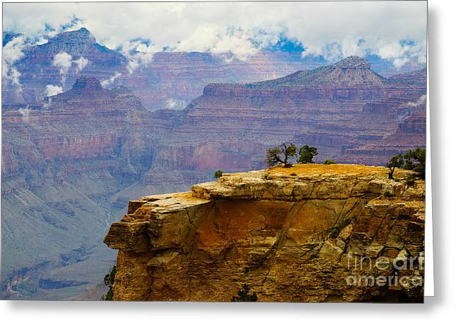 Terry Garvin Greeting Cards - Grand Canyon Clearing Storm Greeting Card by Terry Garvin