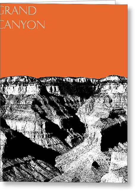 Pen And Ink Digital Art Greeting Cards - Grand Canyon - Coral Greeting Card by DB Artist