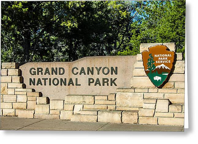 The Grand Canyon Greeting Cards - Grand Canyon Entry - Arizona Greeting Card by Jon Berghoff
