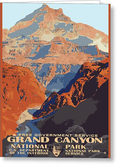 Decorative Greeting Cards - Grand Canyon Greeting Card by Gary Grayson