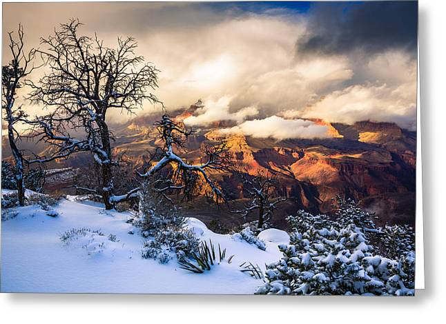 Isis Greeting Cards - Grand Canyon - Grandeur Revealed Greeting Card by Adam  Schallau