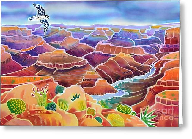 Peregrine Falcon Greeting Cards - Grand Canyon Greeting Card by Harriet Peck Taylor