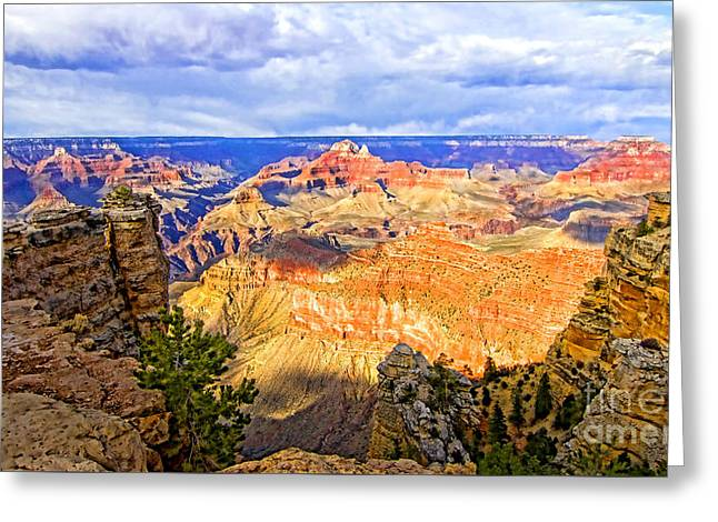 East River Drive Digital Greeting Cards - Grand Canyon Greeting Card by Jason Abando