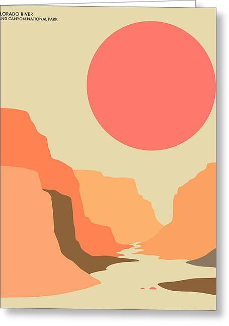 Minimal Landscape Greeting Cards - Grand Canyon National Park Greeting Card by Jazzberry Blue
