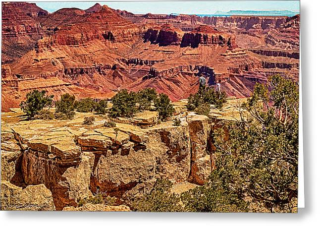 Desertview Greeting Cards - Grand Canyon National Park South Rim Greeting Card by  Bob and Nadine Johnston