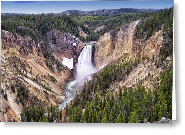 Grand Canyon Of Yellowstone National Park 3 Greeting Card by Thomas Woolworth