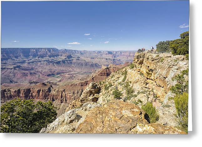 Authentic Inspiration Greeting Cards - Grand Canyon Pipe Creek Vista Greeting Card by Marianne Campolongo