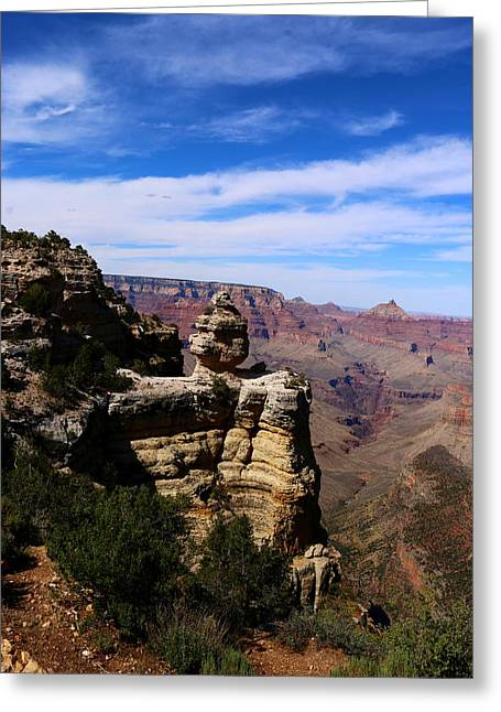 Walhalla Greeting Cards - Grand Canyon Rocky Formation Greeting Card by Christiane Schulze Art And Photography