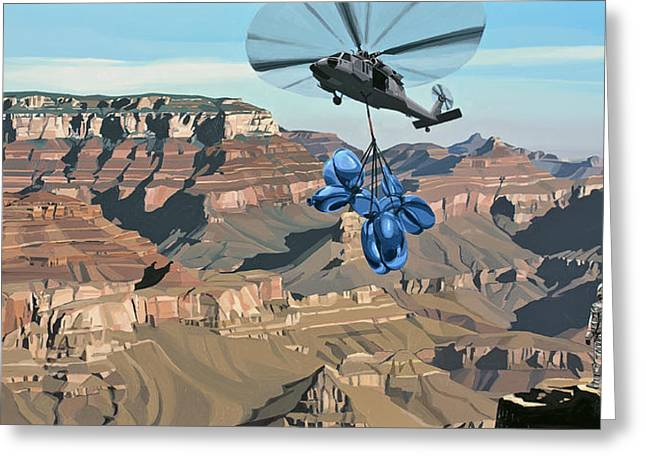 Dog Greeting Cards - Grand Canyon Greeting Card by Scott Listfield