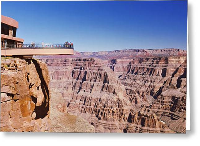 The Grand Canyon Greeting Cards - Grand Canyon Skywalk, Eagle Point, West Greeting Card by Panoramic Images
