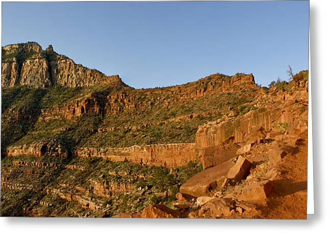 Looking At The Past Greeting Cards - Grand Canyon South Kabab Trail Greeting Card by Brian Kamprath