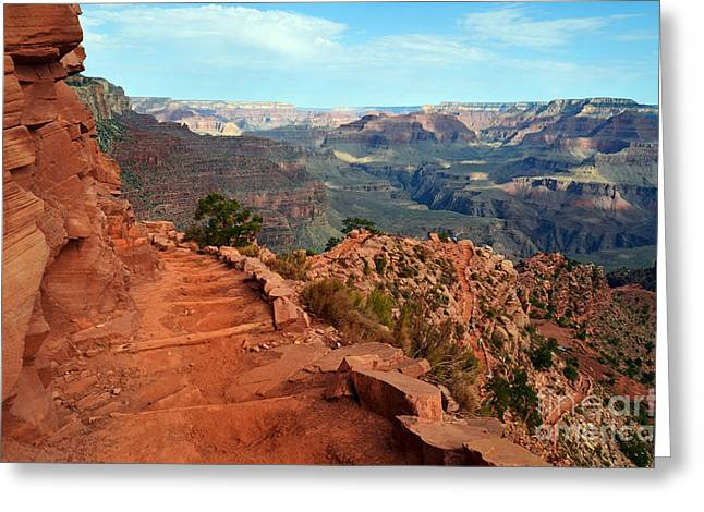 Grand Canyon Greeting Cards - Grand Canyon South Kaibab Trail Greeting Card by Shawn O