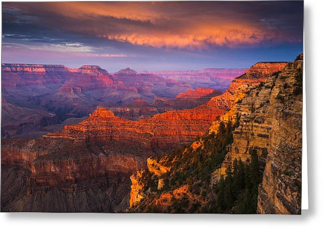 Ridges Greeting Cards - Grand Canyon - The Heart of the Earth Greeting Card by Adam Schallau