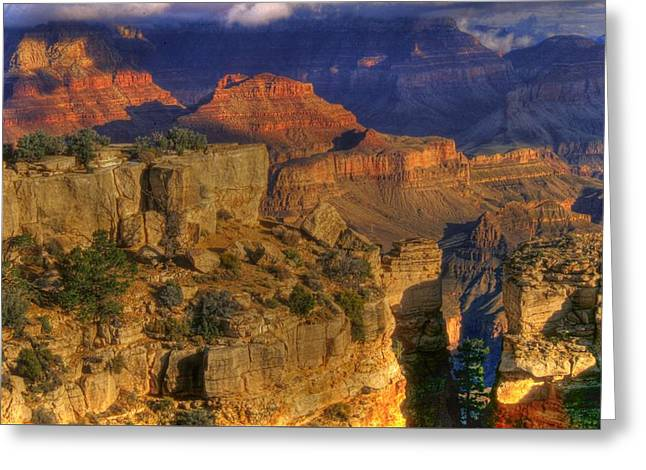 The Plateaus Greeting Cards - Grand Canyon - The Wonders of Light and Shadow - 1A Greeting Card by Michael Mazaika