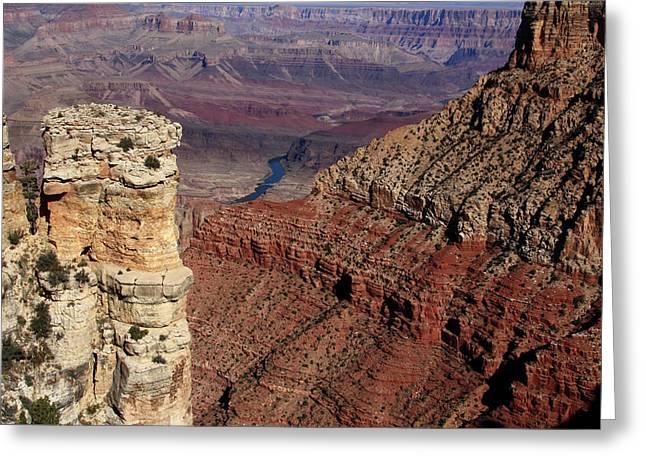 Grand Canyon View Greeting Card by Aidan Moran