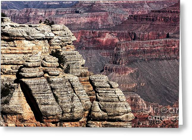 The Grand Canyon Greeting Cards - Grand Canyon View Greeting Card by John Rizzuto