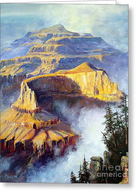 Grand Canyon View Greeting Card by Lee Piper