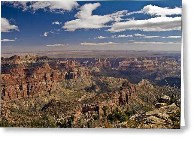 Sea Art Greeting Cards - Grand Canyon View Greeting Card by SEA Art
