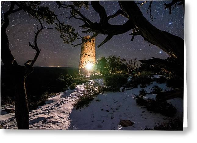 Great Greeting Cards - Grand Canyon Watch Tower Greeting Card by Michael J Bauer