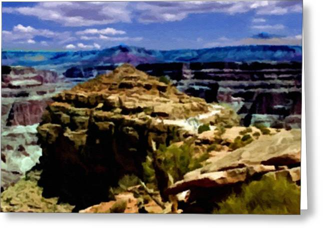 The Plateaus Digital Greeting Cards - Grand Canyon West Rim Hualapai Nation Greeting Card by  Bob and Nadine Johnston