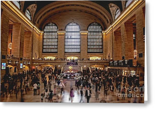 Blur Photography Greeting Cards - Grand Central Greeting Card by Andrew Paranavitana