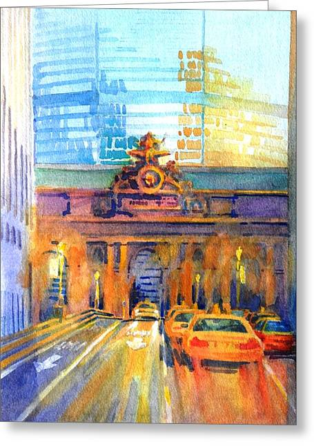 Greeting Cards - Grand Central Before Six Driver Greeting Card by Virgil Carter