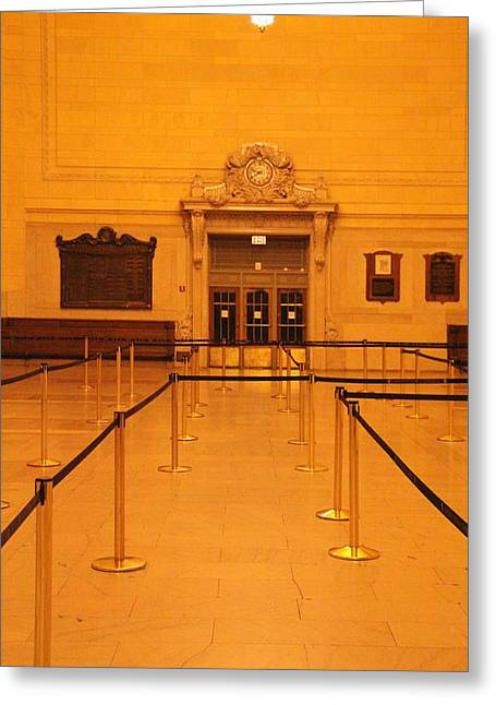 White Suit Greeting Cards - Grand Central Line Greeting Card by Dan Sproul