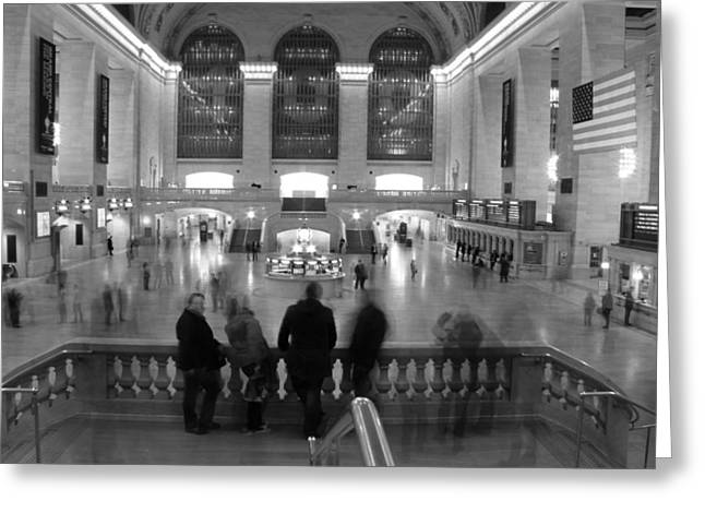 White Suit Greeting Cards - Grand Central Station Greeting Card by Dan Sproul